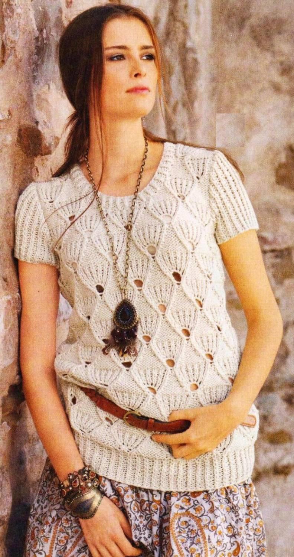 Красивые вязанные пуловеры